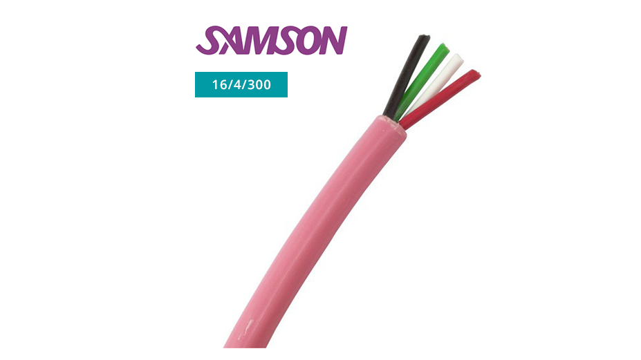 4-Core LSOH Speaker Cable with Copper Conductors 16/4/300 (300m)