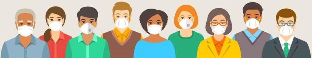 Diverse group of God's people wearing masks