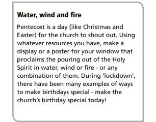 Sunday Worship May 31st - Pentecost