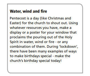 Make a poster to celebrate Pentecost - the Church's birthday