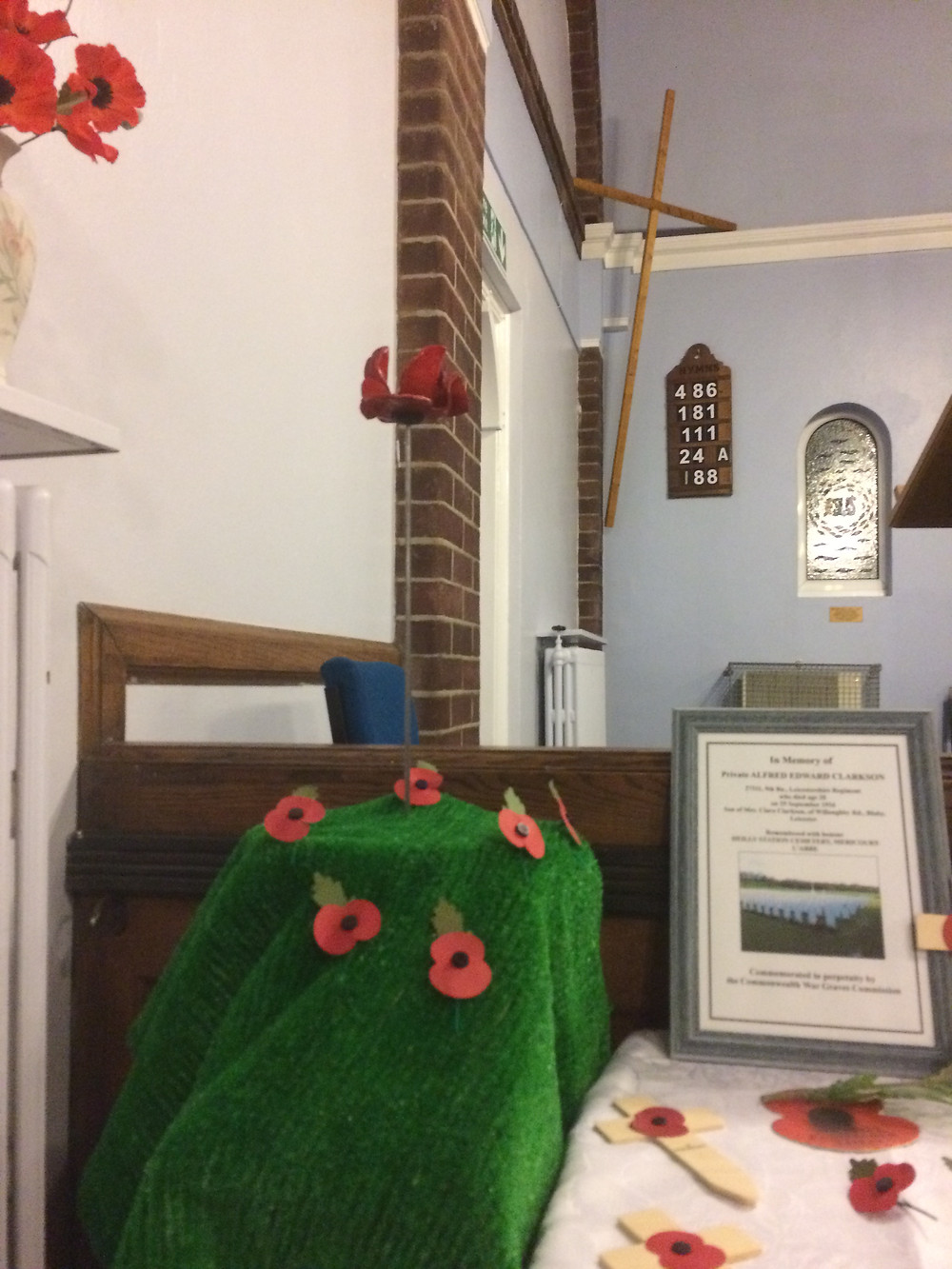 Remembrance Display at Blaby Congregational Church