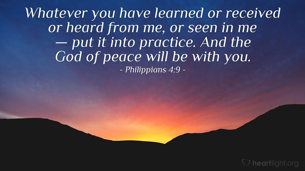 Philippians 4 v 9