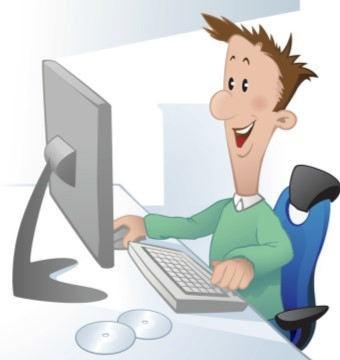 Person happy chatting at virtual meeting