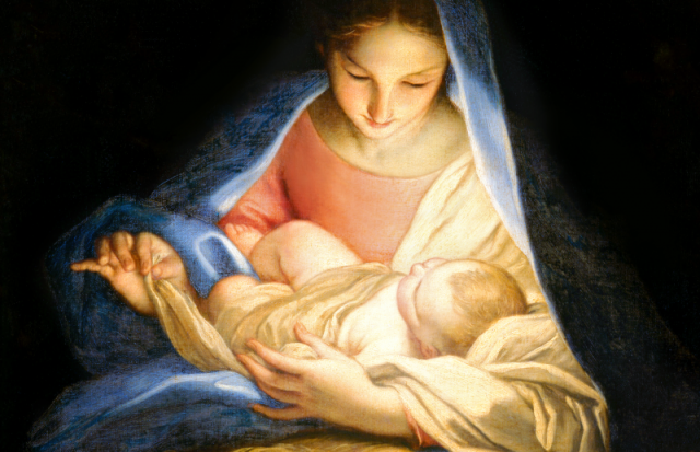 Mary with baby Jesus painting