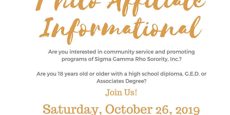 Alpha Sigma Philo Affiliate Informational