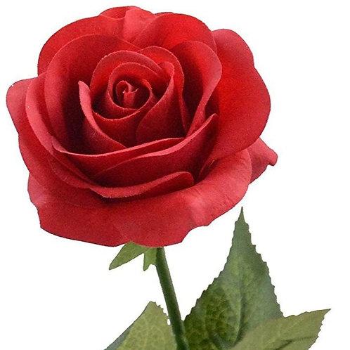 Location rose rouge artificielle