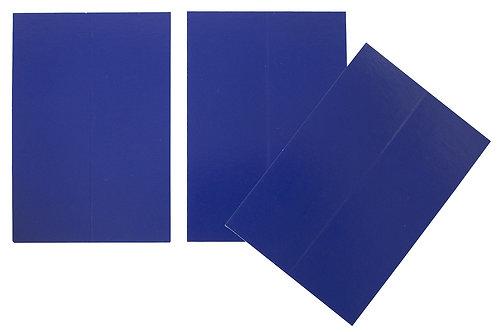 Vente marque-places en carton bleu roi x10