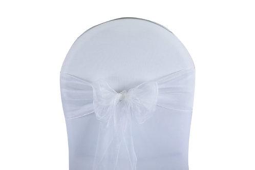 Location Noeud de chaise en organza blanc