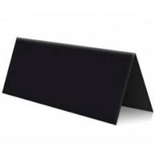 Vente marque-places en carton noirs x10
