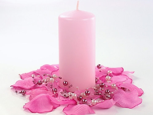 Vente Bougie cylindre rose - 3 tailles