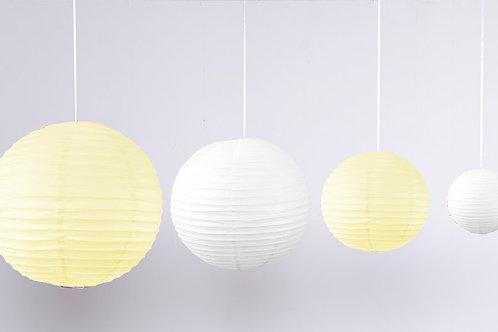 Location 12 boules chinoises Beige et Blanc
