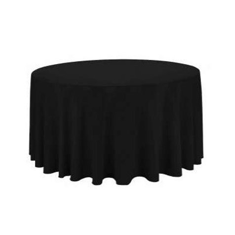 Location Nappe ronde polyester noire