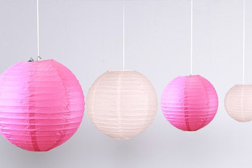 Location 12 boules chinoises rose/ fuchsia