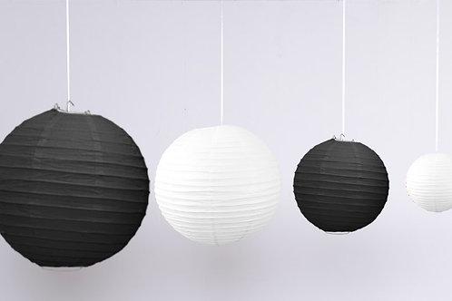 Location 12 boules chinoises blanc / noir