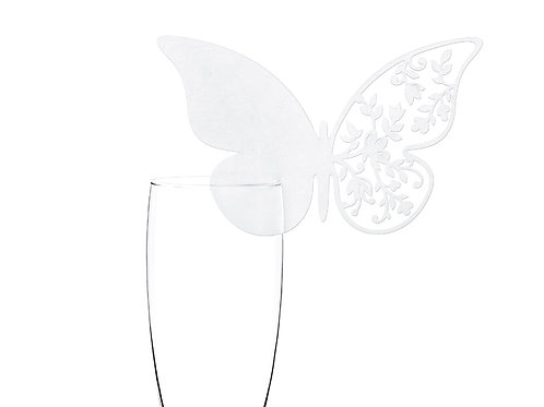 Vente Marque-places papillon dentelle x10