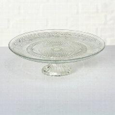 Location Support plat à gâteau en verre