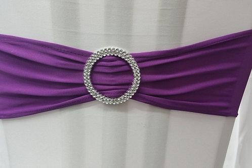 Noeud de chaise en lycra violet