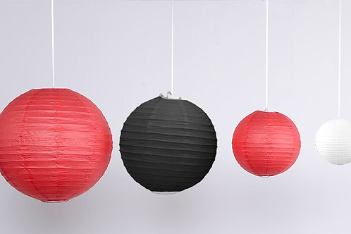 Location 12 boules chinoises rouge / blanc / noir