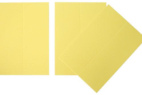 Vente marque-places en carton jaune x10