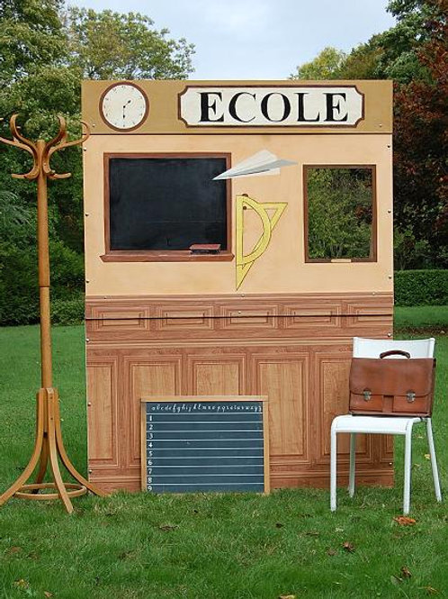 Location Mur photo booth Ecole