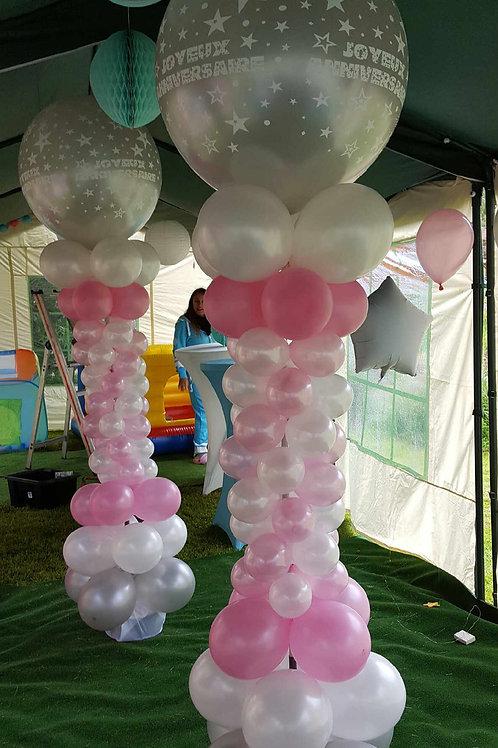Grande colonne de ballons