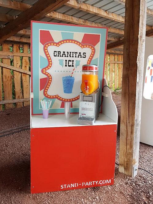 Location stand avec machine à granités
