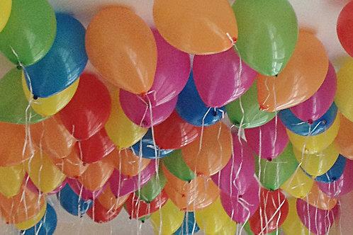 Gonflage ballons à l'hélium