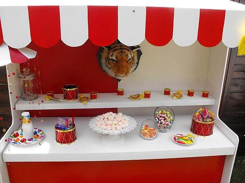 Location Bar à Bonbons Petit Modèle Cirque