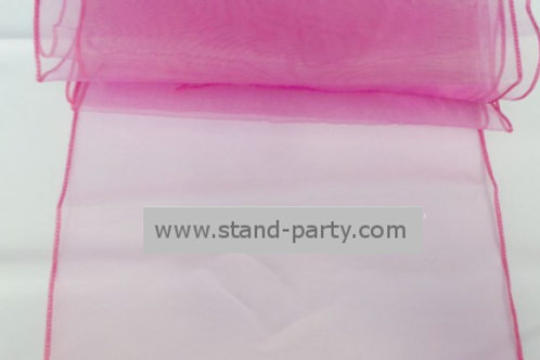 Location Chemin de table organza fuchsia