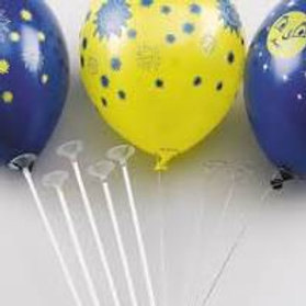 Vente 100 tiges à ballons en plastique