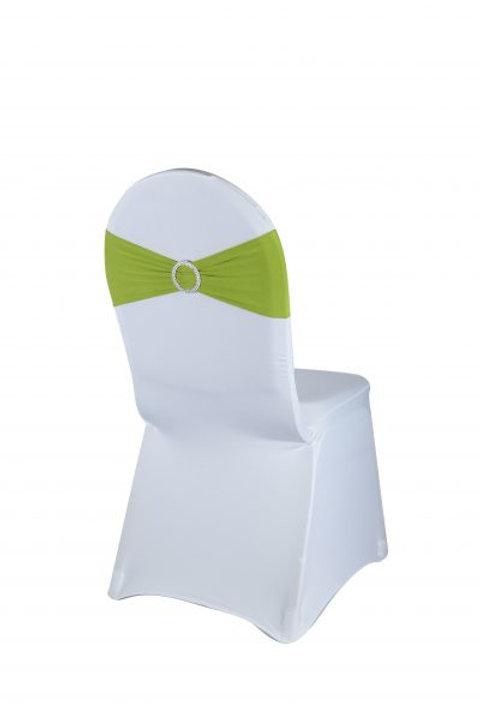 Noeud de chaise en lycra vert anis