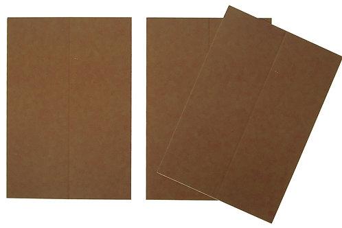 Vente marque-places en carton marron x10