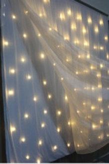 Location rideau lumineux 4m Blanc Chaud