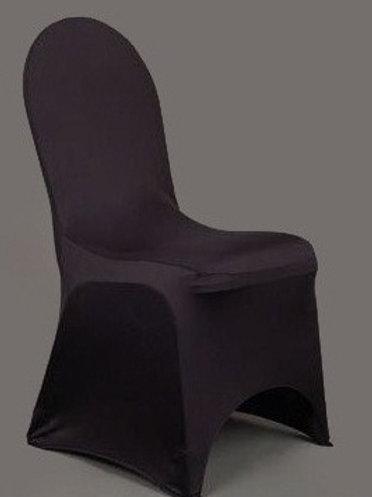 Housse de chaise lycra noire