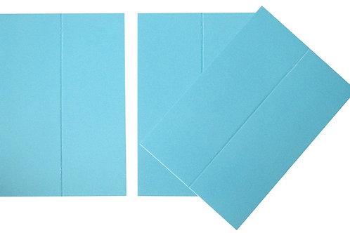 Vente marque-places en carton turquoise x10
