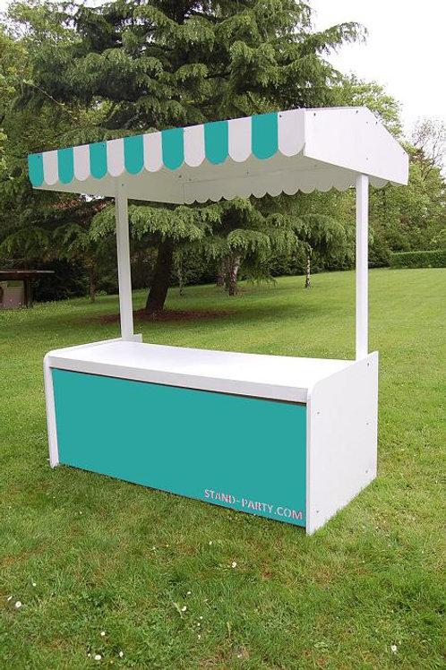 Location Stand Traiteur Bleu turquoise