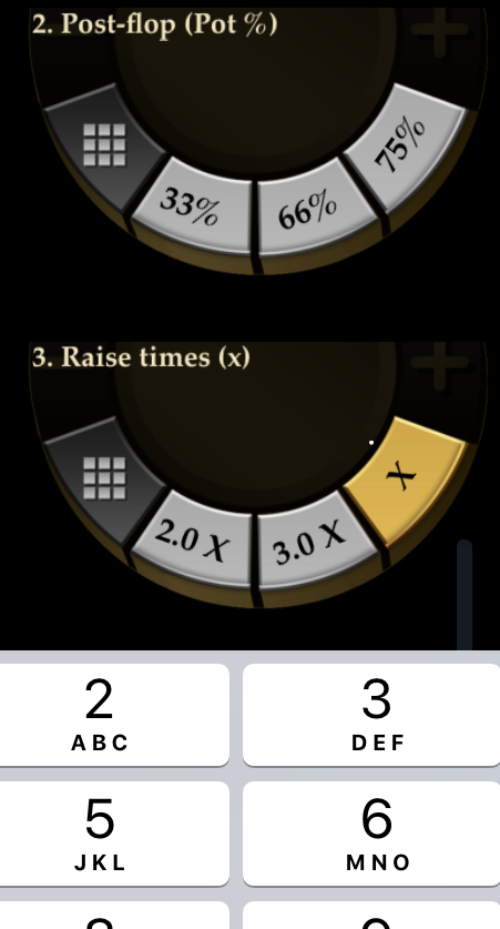 "Betting Settings in Pokerrrr featuring ""Raise times"""