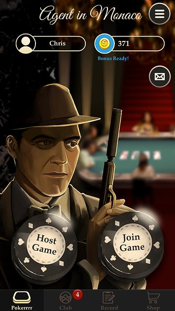 Pokerrrr2 Main Menu