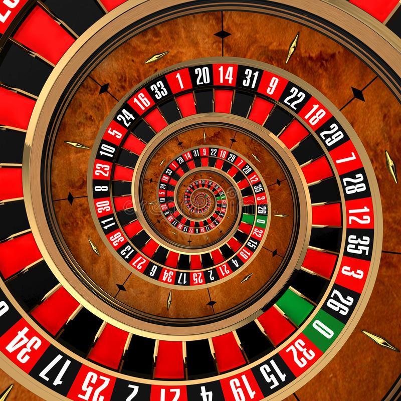 Spiralling and never-ending roulette wheel