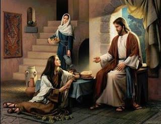 Martha & Mary with Jesus