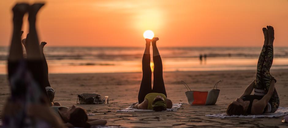 Sunset Beach Yoga Nosara Costa Rica