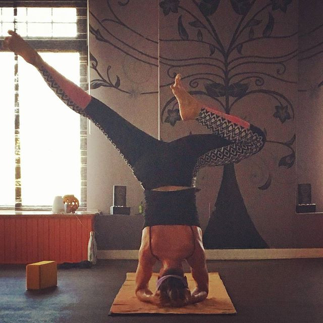 Twisted Sister in Yoga Headstand