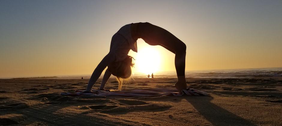 Wheel Pose Sunrise Yoga