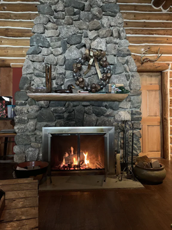 Cozy Up Fire Place in Retreat House
