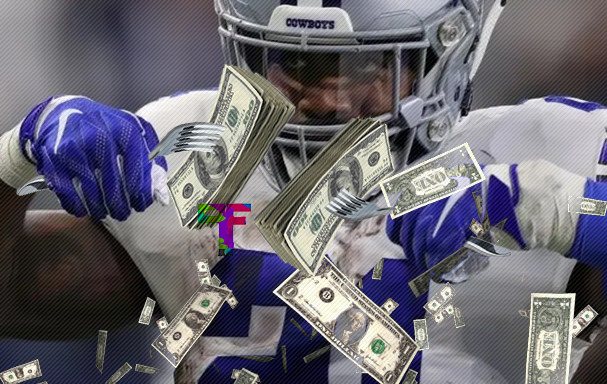 Ezekiel Elliott Finally Gets to Eat from The Cowboys Plate