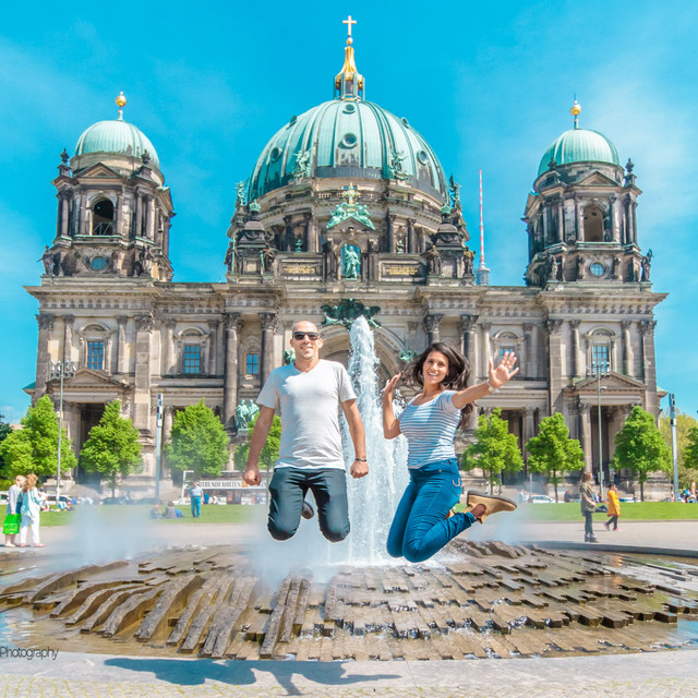 Berliner Dom with Jumping Birds