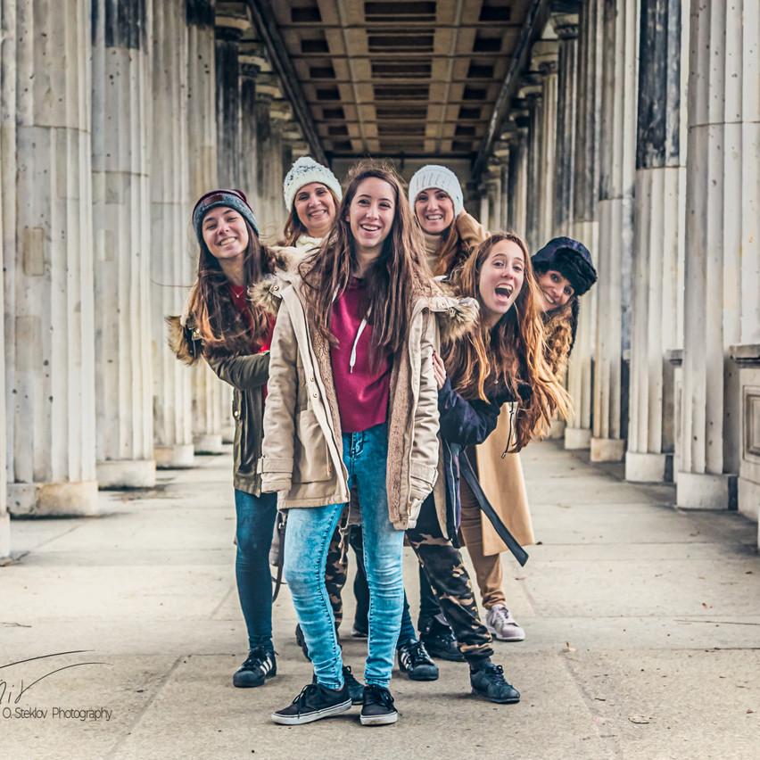 Family Having fun in Berlin
