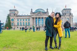 Reichstag Building in Winter
