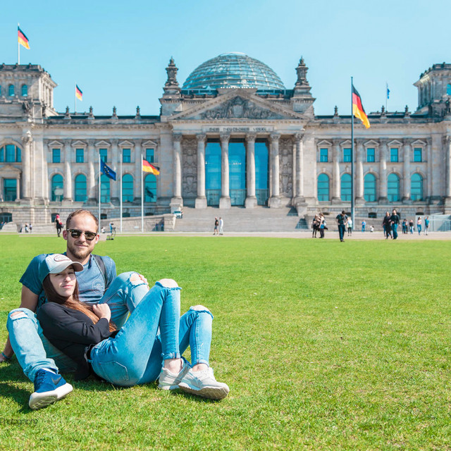 Reichstag Building with Beautiful People