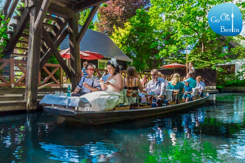 Spreewald שפרהוולד סירה קבוצתית עם חתן וכלה